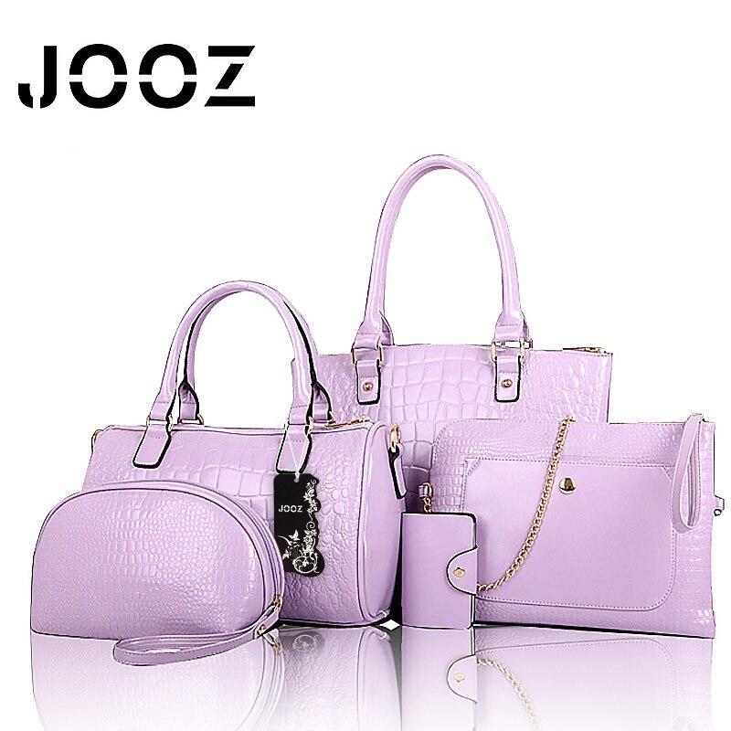 ФОТО Jooz Brand Luxury PU Lether female bag Lady Leather 5 Pcs Composite bags Set Women Shoulder Crossbody Bags Handbag Purse Clutch