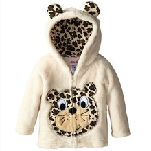 Winter Kids Cartoon Coats Children Jackets Baby Boys Animal Long Sleeve Outerwear Coral Velour Baby boy clothes