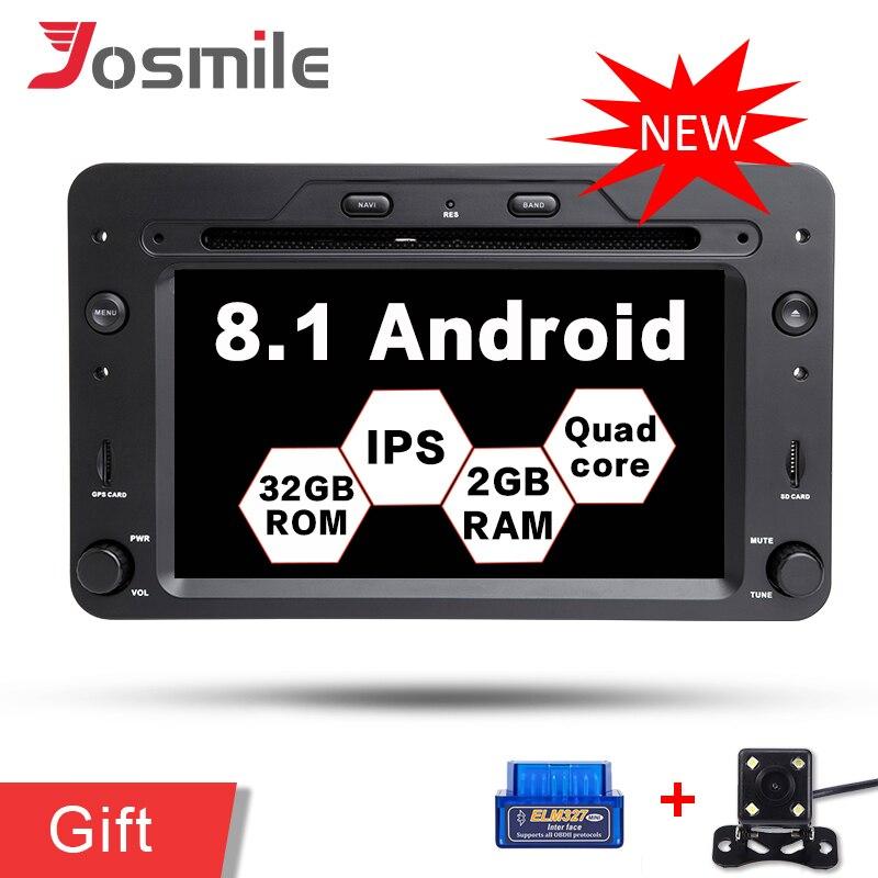 Lecteur DVD de voiture Quad Core Android 8.1 pour Alfa/reméo/araignée/Brera/159 Sportwagon multimédia Navigation GPS Canbus Wifi DAB TPMS