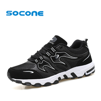 Socone Men Running Shoes Summer Breathable Mesh Sneakers Men Soft Light Weight Running Sneakers Outdoor Sport