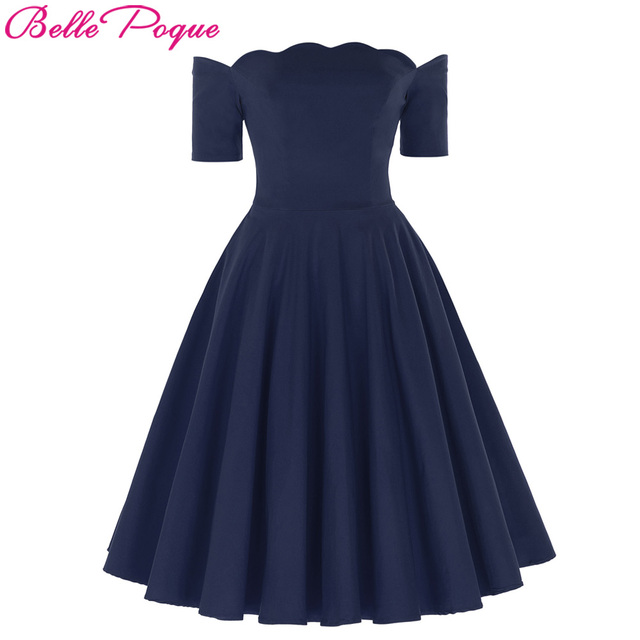 3152b3ee911 Belle Poque 2018 New Vintage Summer Dress Off Shoulder Sexy Elegant Women  60s 70s Evening Party Robe Vestidos Female Dresses