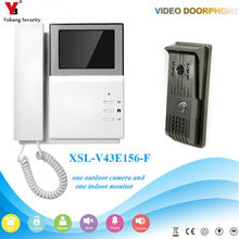 YobangSecurity Video Intercom Monitor 4.3″inch Video Door Phone Doorbell Home Security Wired for House/Office/apartment/Hotel