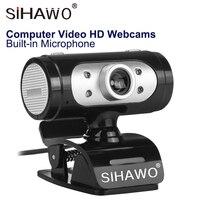 HD Webcam USB Camera Network Platform Camera Recording Camera CMOS 360 Degree Rotation 1280*720 Resolution For Laptop and PC