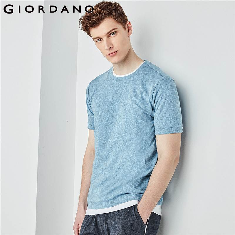 b7a1802e4ebd Detail Feedback Questions about Giordano Men Crewneck Tshirt Slub Cotton T  Shirt Men Soft Short Sleeve Tee for Men 2018 Camisetas Hombre Brand Men  Clothes ...