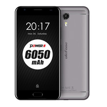 Ulefone Power 2 4G Smartphone Android 7.0 5.5 '' MTK6750T Octa Core 4GB RAM 64GB ROM 6050mAh Front Fingerprint Mobile Phone(China)