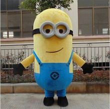 cosplay Fantasia 2016 New Style Cartoon Mascot costume Free Shipping! EPE Minion Mascot Costume, Despicable Me Mascot Costume