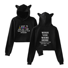 LUCKYFRIDAYF Travis Scotts ASTROWORLD Cat Hoodies Women/Men Funny Crop Top Sexy Sweatshirt Fashion Cool Clothes