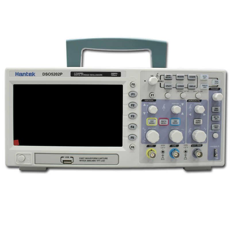 Hantek DSO5202P Oscilloscope numérique 200 MHz bande passante 2 canaux PC USB LCD Portable Osciloscopio Portatil outils électriques