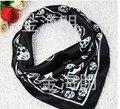 Компактный череп шарф шелк шарф компактный атлас шарф профессиональный квадрат шарф