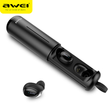 AWEI T5 TWS 5.0 Bluetooth Earphone Wireless Headphone 3D Stereo Headset With Mic Earbuds Charging Case For iPhone Samsung