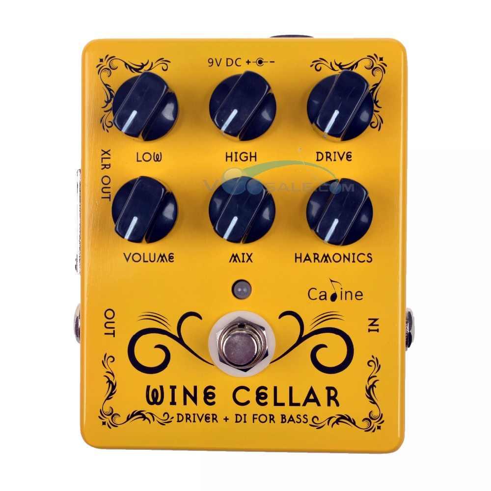 Caline CP-60 سائق + DI ل باس الغيتار دواسة تأثير مع 9 فولت 1A محول الغيتار اكسسوارات صغيرة دواسة الغيتار أجزاء استخدام ل الغيتار