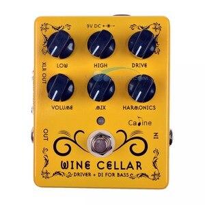 Image 1 - Efeito pedal de guitarra 9v, 2 peças, caline CP 60 driver + di para baixo, acessórios para guitarra, mini pedal pedal cp60 peças