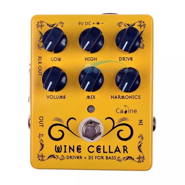 Efeito pedal de guitarra 9v, 2 peças, caline CP 60 driver + di para baixo, acessórios para guitarra, mini pedal pedal cp60 peças