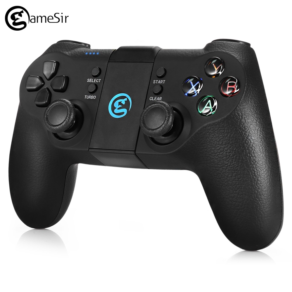 GameSir T1s 2.4GHz Wireless Bluetooth Gamepad Joystick Gaming Controller Game Pad Phone Holder For Android Windows PS3 System gamesir f1 gamepad game controller phone analog joystick grip for all android