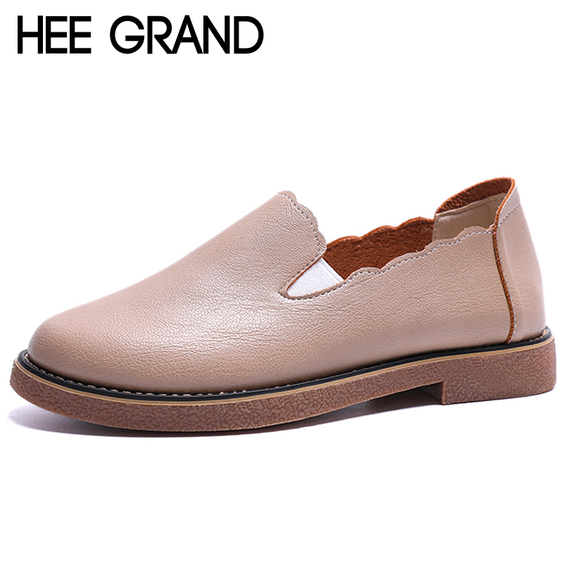 HEE GRAND 2018 Patent Leather Women Oxfords British New Spring Platform Flats Casual Slip on Ladies Brogue Shoes Woman XWD6733 hee grand solid patent leather women oxfords british new fashion platform flats casual buckle strap ladies shoes woman xwd5833