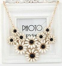 SPX4803 Новый Мода Чешского Цветок Хризантемы Фиолетовый Кристалл себе ожерелье для Женщин