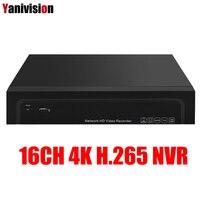 H.265 16CH 4 К 8MP 25CH 5MP NVR 4 К Выход безопасности сети видео Регистраторы Full HD ONVIF аудио сигнала тревоги 4 К обнаружения движения NVR ONVIF