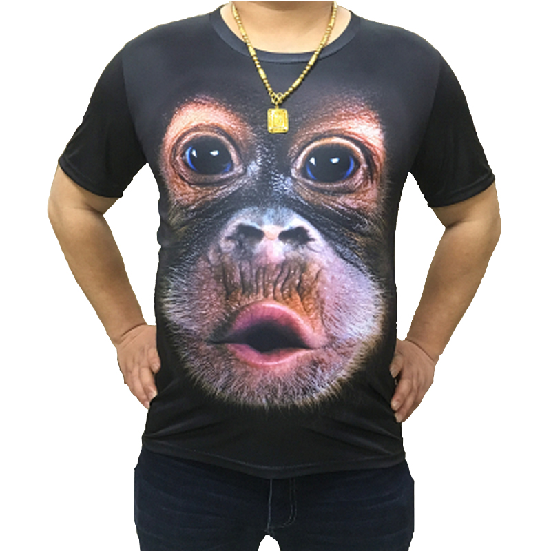 2019 New Summer funny 3d   t     shirts   Gorilla Animal Printed Tee   shirt   homme Fashion Brand Tops Hip Hop Streetwear Plus Size S-6XL