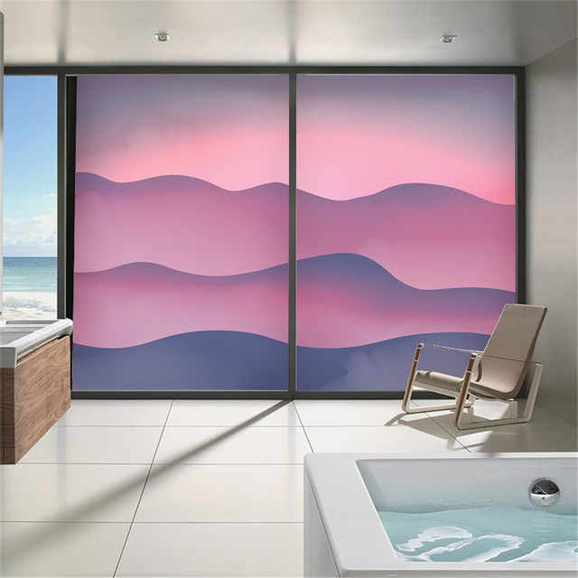 Mountain Glass Film No Plastic Electrostatic Film Opaque Matte Sliding Door  Bathroom Window Wall Sticker Shading