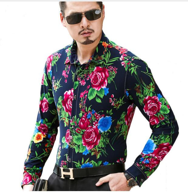 ae57b02083f294 ... Long Sleeve Shirts Blouses Peasant Blouse Source · Loldeal Men Shirt  2018 5XL 6XL Plus Size Mens Floral Shirts Brand
