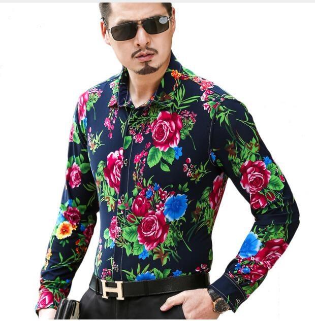 shirt met bloemen heren