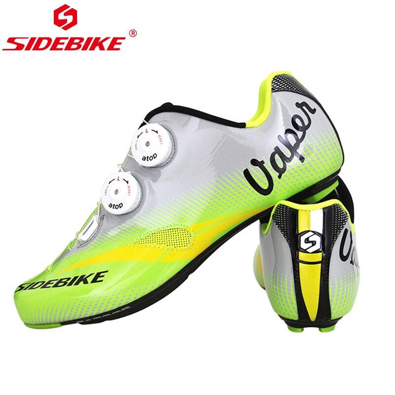 Sidebike chaussures De cyclisme en Fiber De carbone chaussures De vélo De route ultra-légères chaussures De sport respirantes chaussures De vélo Zapatilla De Ciclismo