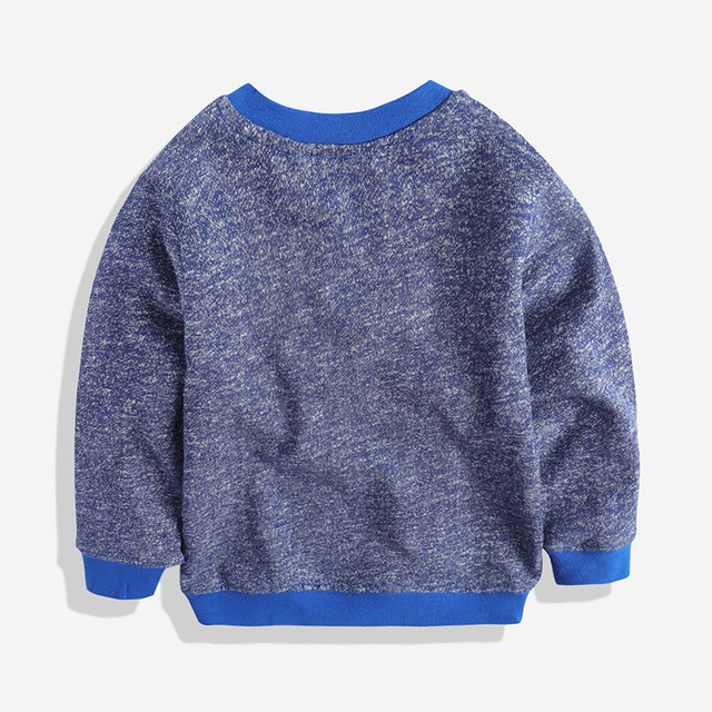 The child's head of children's leisure sweater sweater boy in spring baby Terry sweater round neck sweater