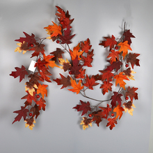 HOYVJOY  Autumn maple leaf decoration rattan Artificial plant Home office shopping mall 180cm free shipping