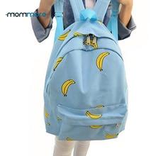 mom more Cute Girl Banana Pattern Women Backpacks Travel Pratical School Bags Unique Fashion Canvas Backpack
