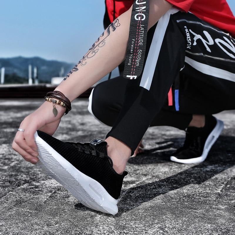 Pure Color Light Casual Shoes Mesh Cloth Men's Shoes Breathable Walking Jogging Shoes Large Size Men's Shoes 46 (18)