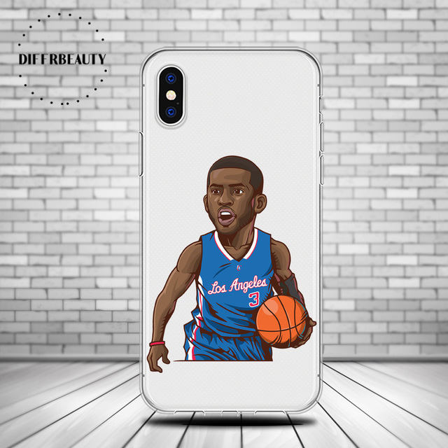Us 289 Basketball Cartoon Nba Player Dwyane Wade Diffrbeauty Soft Tpu Silicone Shell Phone Case For Iphone X 5s Se 6s 7 8 Plus In Half Wrapped