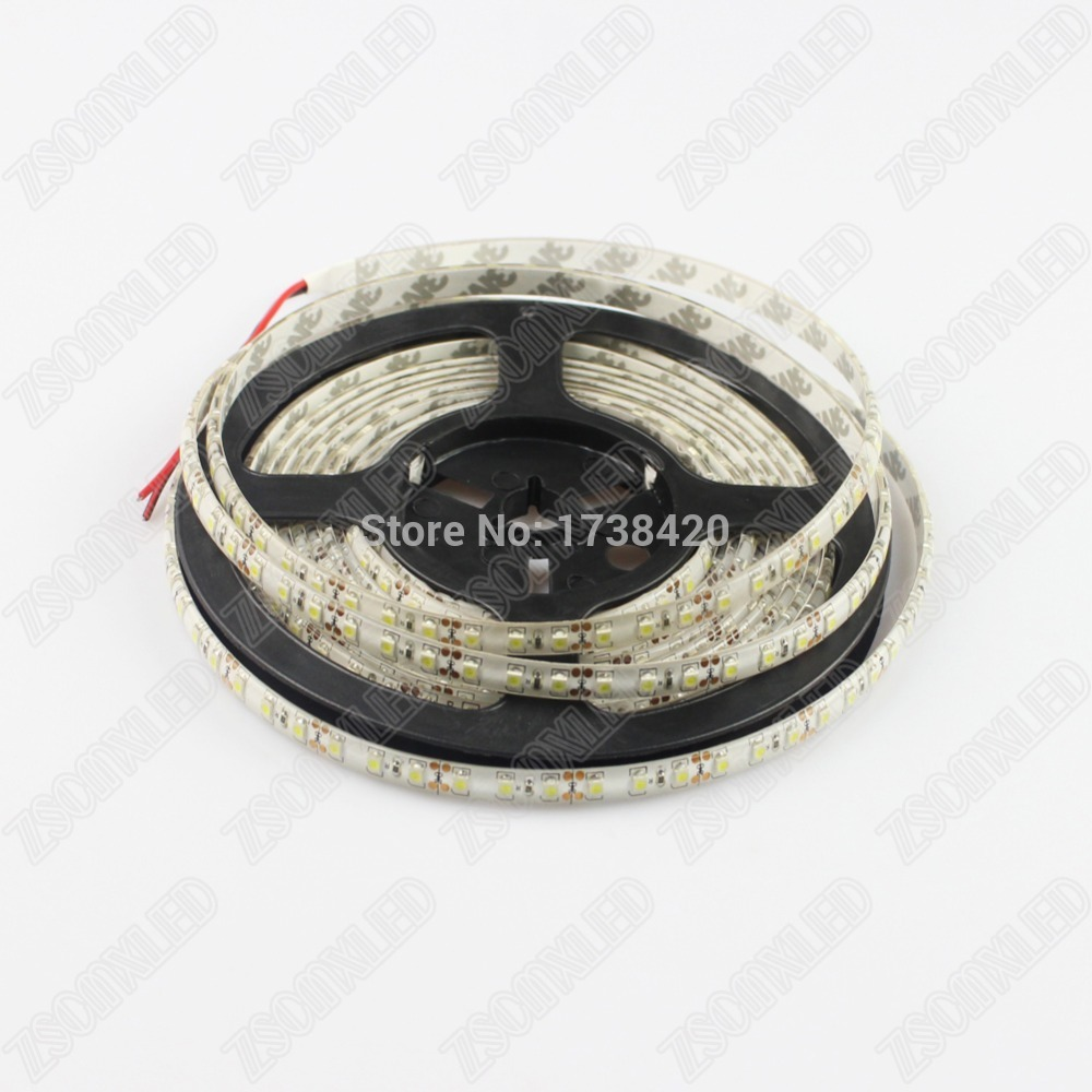 Free Shipping LED Strip Light 5m waterproof IP65 3528 SMD 600LEDS 120led/M led strip DC12V WW/W/R/G/B/RGB good quality
