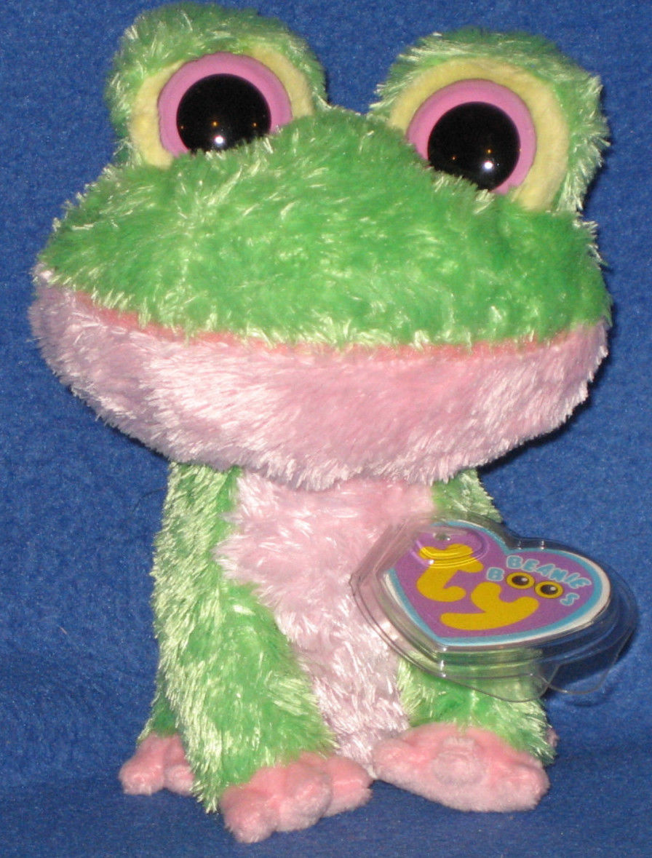 Ty Kiwi Frog Beanie Boos New Mint Purple Tag Retired Super Hard