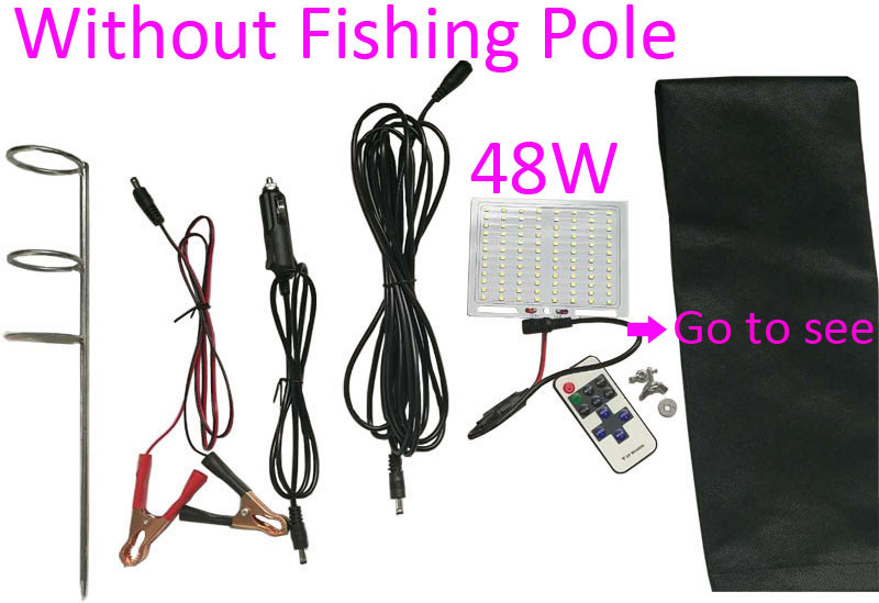 Packing fishing rod light without pole