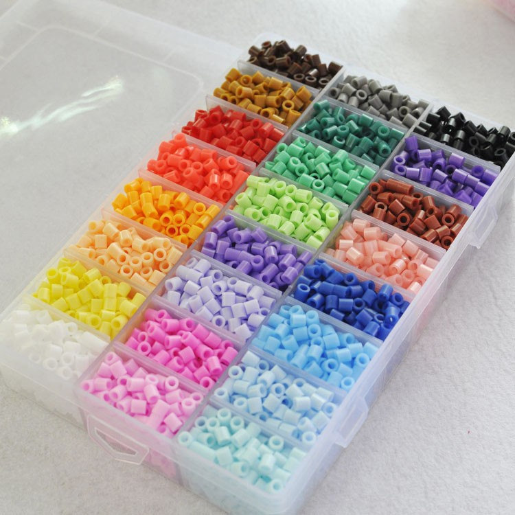 5mm24/36 Colors Diy Toy Box Set Of Hama Beads Pegboard Accessories EVA Perler Fuse Beads For Children Puzzle Educational Jigsaw