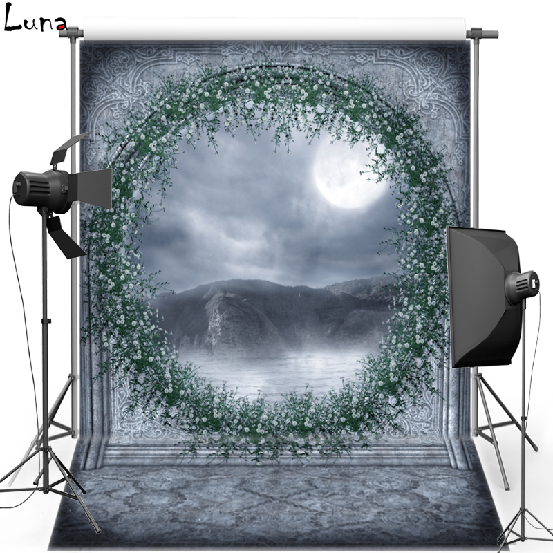 Moon Gate Vinyl Photography Background Backdrop For Children Fairy Tale New Fabric Flannel Background For Photo Studio 1678 bookshelf vinyl photography background backdrop for kids wood floor new fabric flannel background for children photo studio 2694