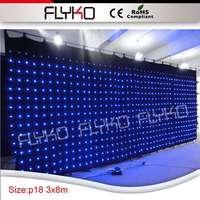 180 мм бархат LED Свадебная вечеринка занавес для продажи