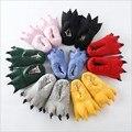 El envío libre 2016 Otoño y El invierno de terciopelo de coral super suave zapatos pata Puntada dinosaurio de peluche zapatillas de algodón modelos de explosión