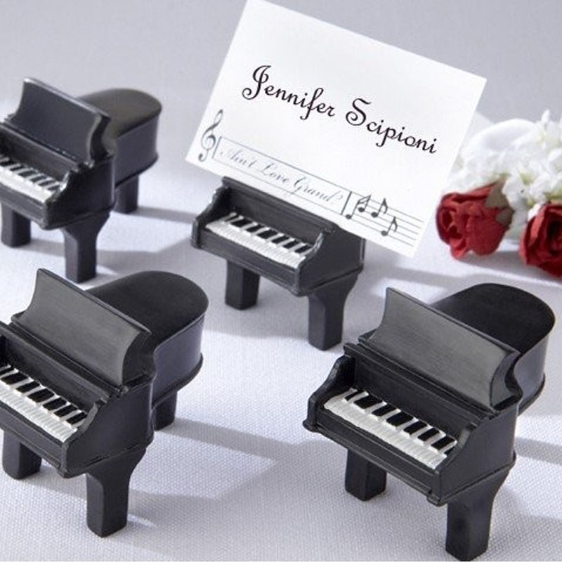 100pcs Piano Music Wedding Name Table Number Place Cards Holders Party Banquet Seating Escort Seat
