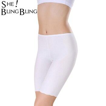 ec121feb70 SheBlingBling mujeres suave con costura Invisible de seguridad pantalones  cortos de verano con pantalones cortos de falda de seda de hielo  transpirable ...