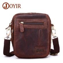JOYIR Mini Men Messenger Bag Genuine Leather Crossbody Bag Cow Leather Waist Bags Male Single Small Shoulder Bag For Men