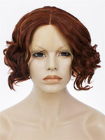 Imstyle loose wave synthetic lace front wig burgendy 14