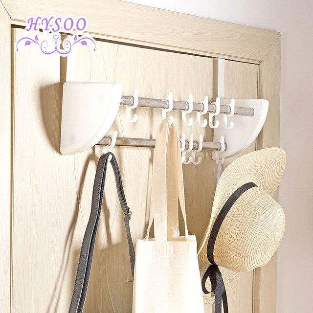 Double row door back hook door hanger hangers bathroom free hanging wall hanging coat rack strong & Double row door back hook door hanger hangers bathroom free ...