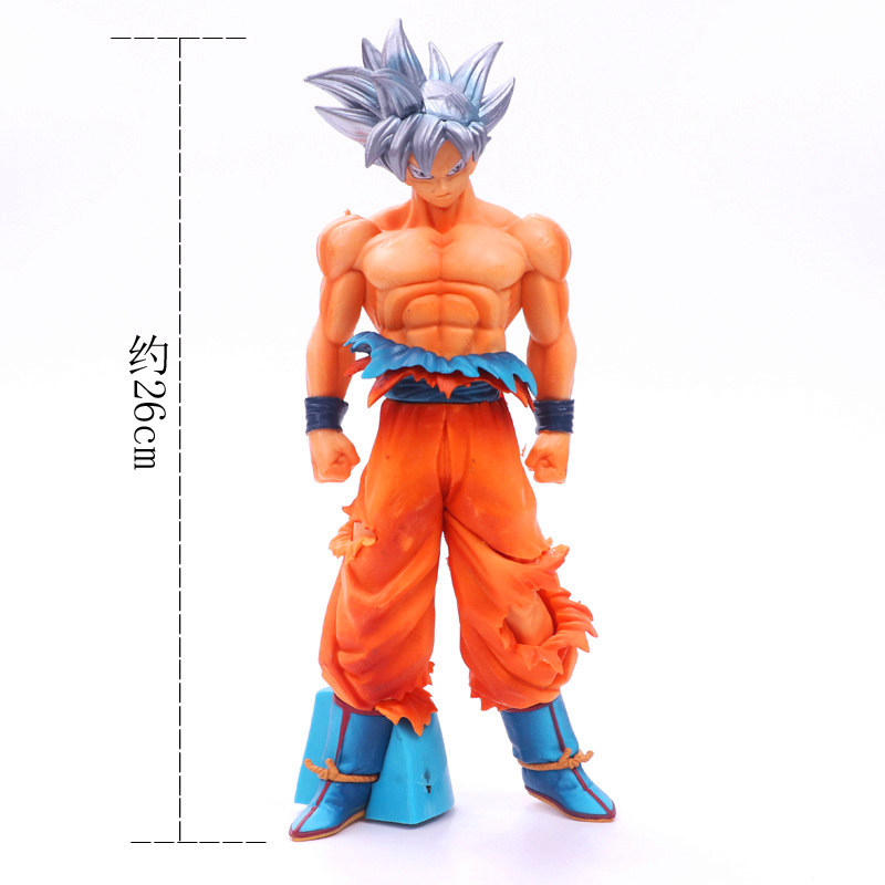 Seven Dragon Ball Animation Ultra Instinct WuKong 26cm PVC Action Figure Collectible Model Toy Boxed image