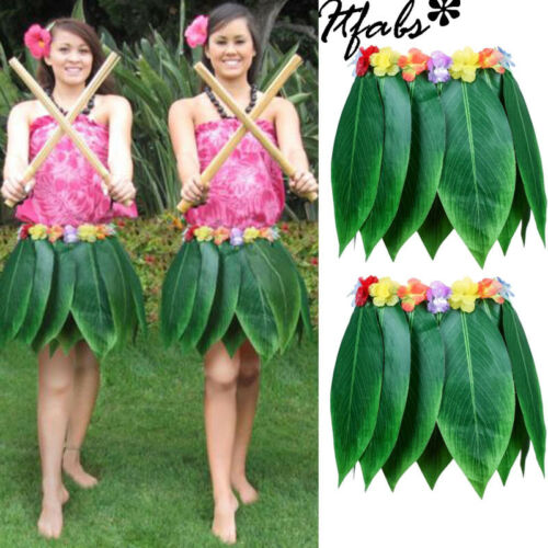 Mujeres flor hawaiana hierba Hula Linda hermosa moda Hith calidad falda adulto tamaño Luau fiesta baile disfraces faldas