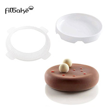 One Set Flat Top and Rounded Sides Eclipse Silicone Round Shape Cake Mold Ice Cream Mousse Mould Baking Pastry Tools Non-Stick