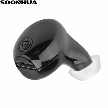 SOONHUA Mini Bluetooth Earphone V4.1 Wireless In Ear Earbuds Sports Stereo Music Headphone Handsfree For iPhone Samsung Xiaomi