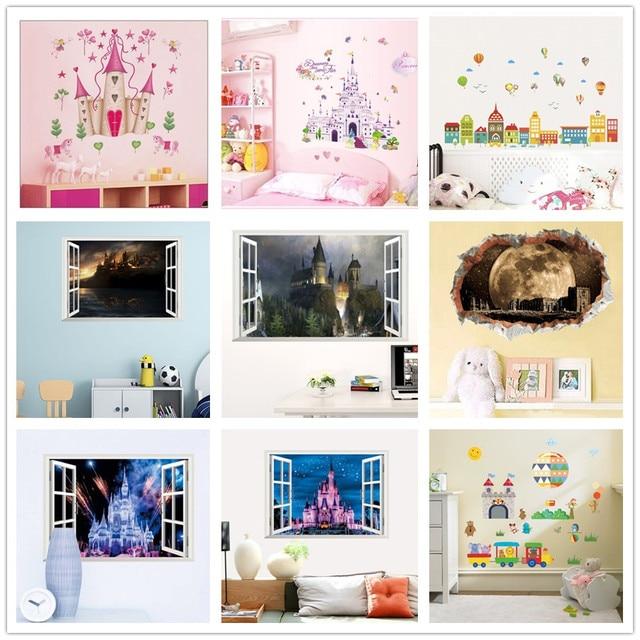 Removable DIY Princess Castle Star Fantasy Girls Bedroom Wall ...