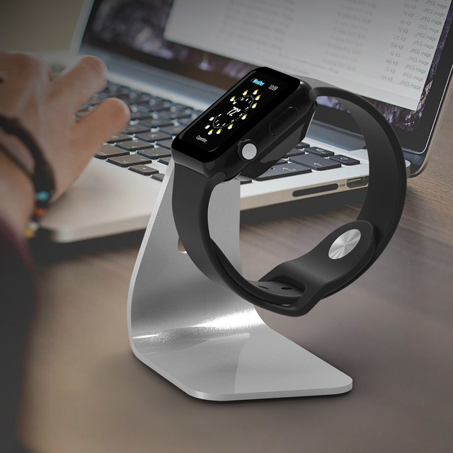 FLOVEME Metal Aluminum Charger Stand Holder for Apple Watch Bracket Charging Cradle Stand for Apple i Watch Charger Dock Station 5