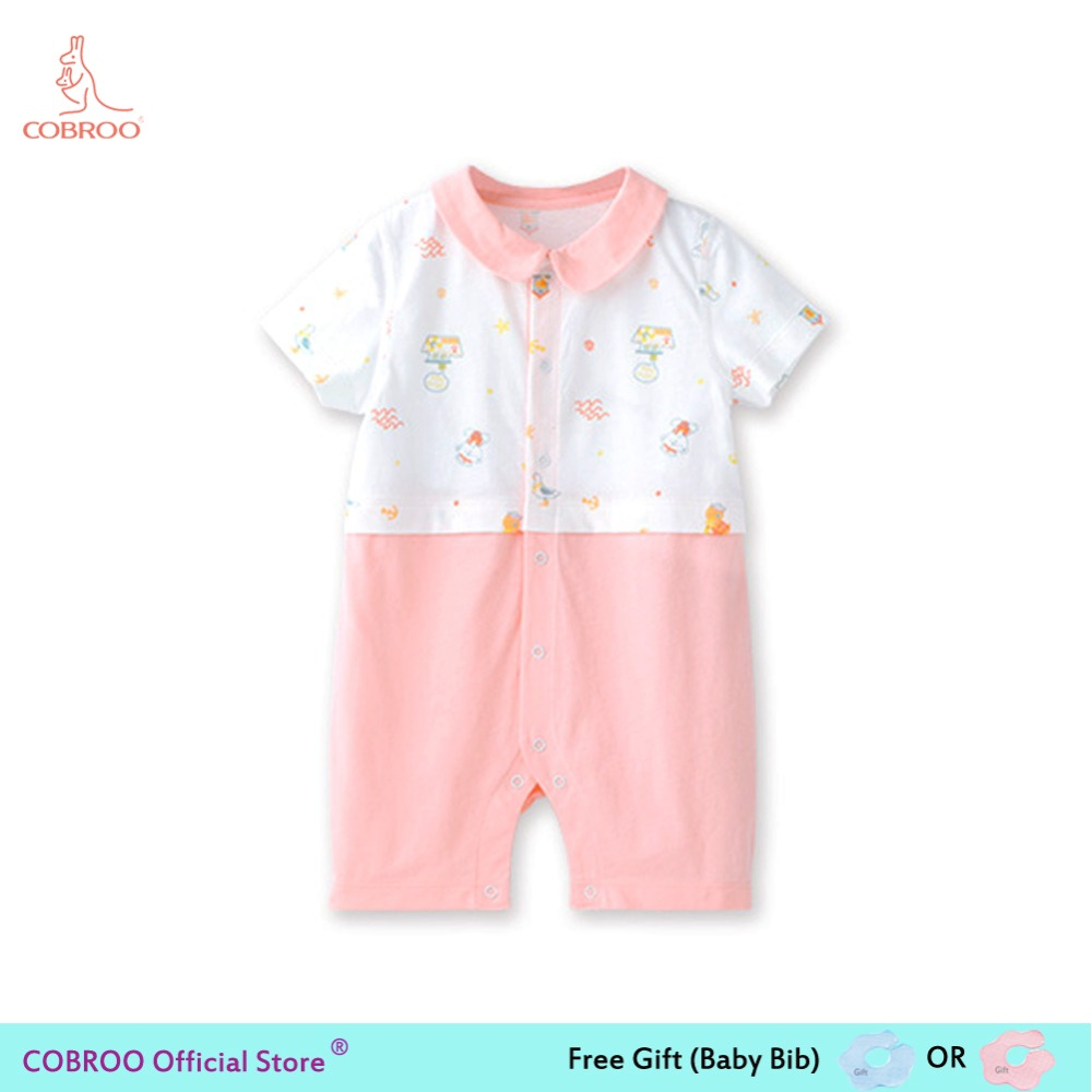 682b0f8a1bee Newborn Baby Girl Beach Floral Clothes Pink Unisex Summer Rompers 0 12  Months Baby Clothes Boy Baby Jumpsuit 1 Year Old 250038